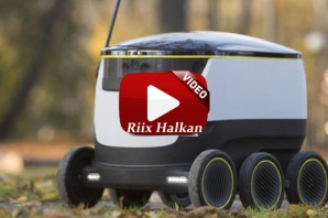 Starship robot is the Future of Delivery (VIDEO)